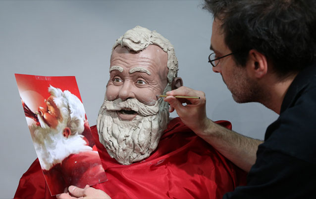 Sculpture Père Noël Coca-cola
